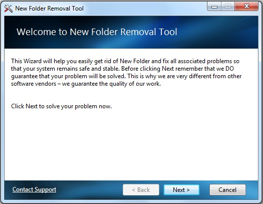 Newfolder Fix Wizard Screenshot 1