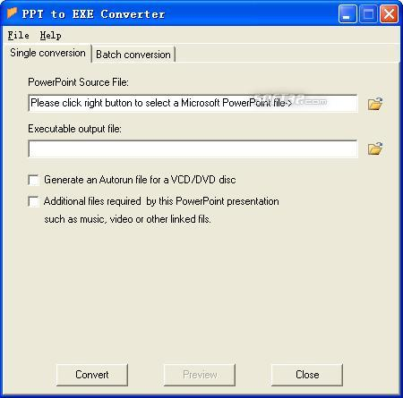 PPT to EXE Converter Screenshot 2