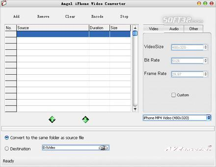 Angel iPhone Video Converter Screenshot 2