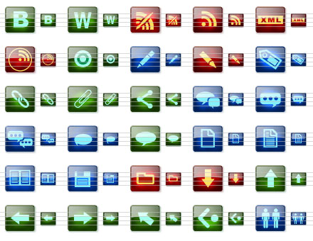 Blog Icons for Vista Screenshot