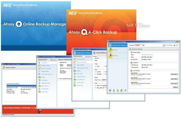 Ahsay Backup Software Free Edition Screenshot 1