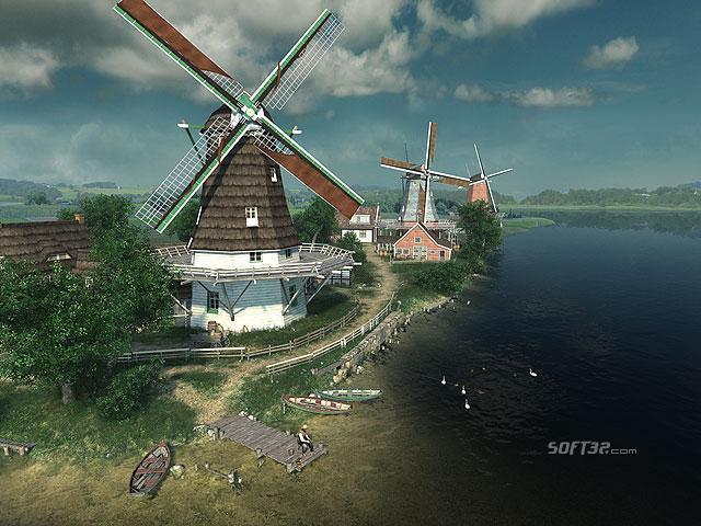 Dutch Windmills 3D Screensaver Screenshot 2