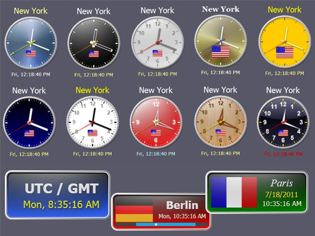Sharp World Clock Screenshot 1