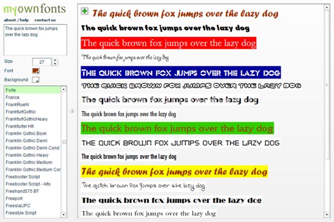 My Own Fonts Screenshot