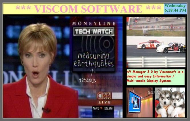 VISCOM AV Manager Digital Display Software Screenshot 3