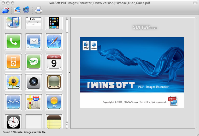 iWinSoft PDF Images Extractor for Mac Screenshot 3