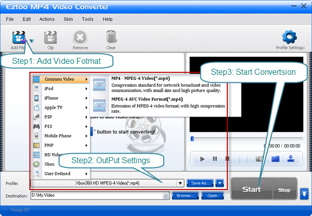 Eztoo MP4 Video Converter Screenshot