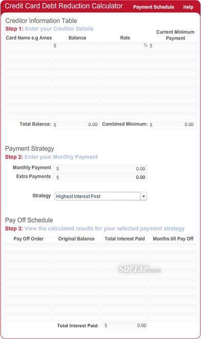 Debt Repayment Calculator for websites Screenshot 3