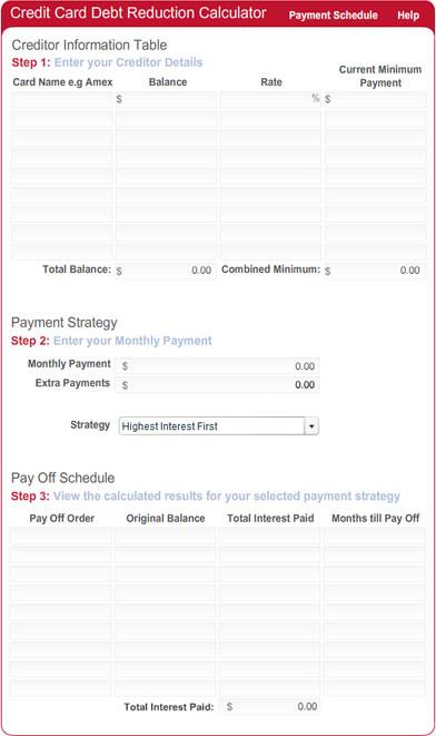 Debt Repayment Calculator for websites Screenshot 1
