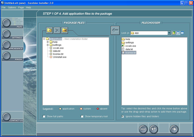 Excelsior Installer Screenshot