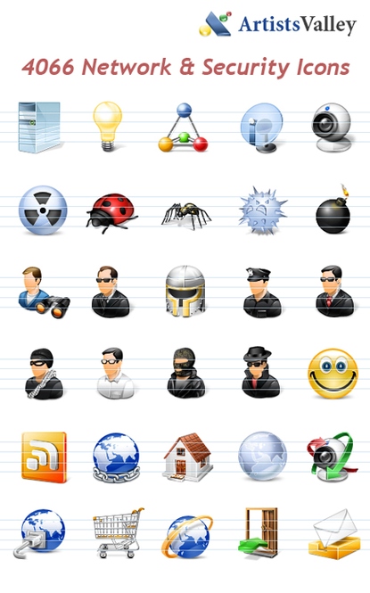 Network Security Icons Screenshot