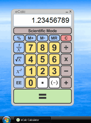 eCalc Calculator Screenshot
