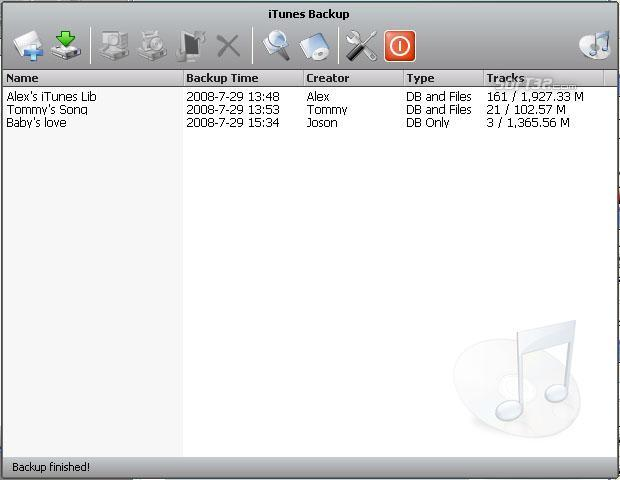 Aniosoft iTunes Backup Screenshot