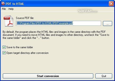 PDF to HTML Screenshot 3
