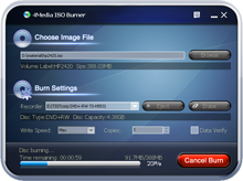 4Media ISO Burner Screenshot 1
