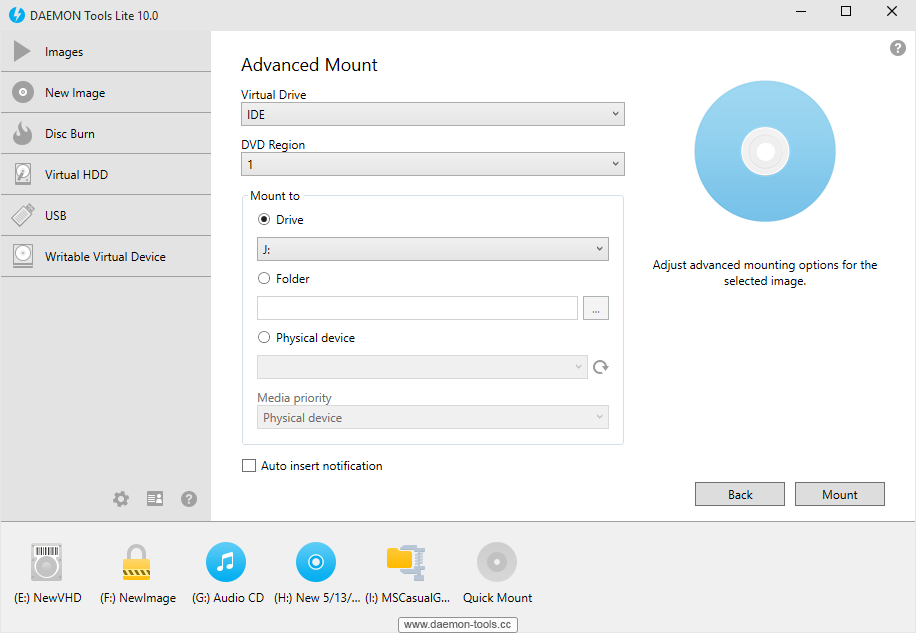 DAEMON Tools Lite Screenshot 1