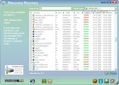Discovery Recovery Screenshot