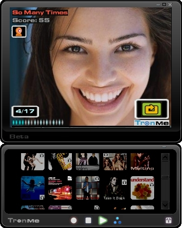 TronMe Interactive Music Player Screenshot