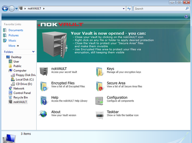 nokVAULT Screenshot