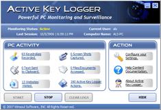Active Key Logger Screenshot