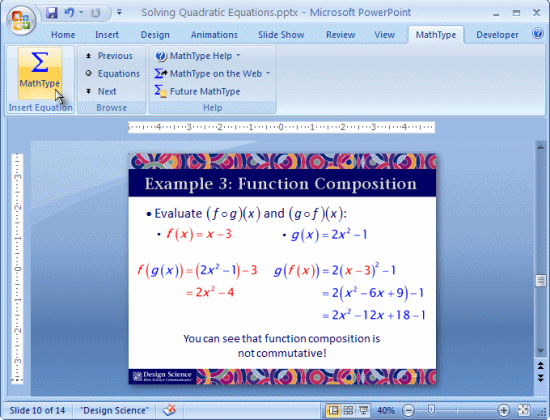 MathType Screenshot 3