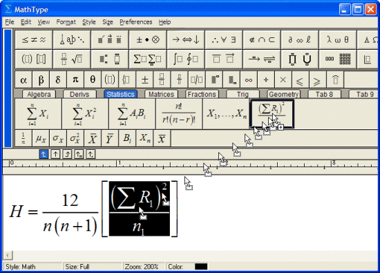 MathType Screenshot 2