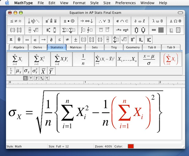 MathType Screenshot 4