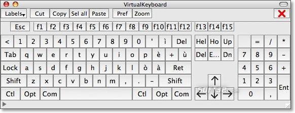 VirtualKeyboard Screenshot