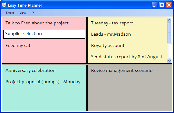 Easy Time Planner Screenshot