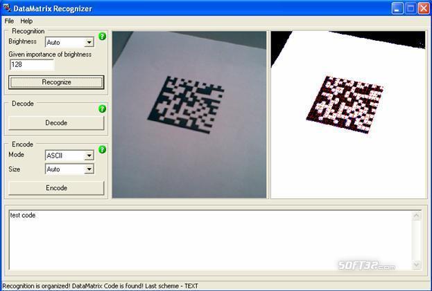 DataMatrix Recognizer Screenshot 2