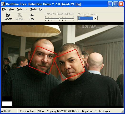 Real-Time Face Detector Screenshot