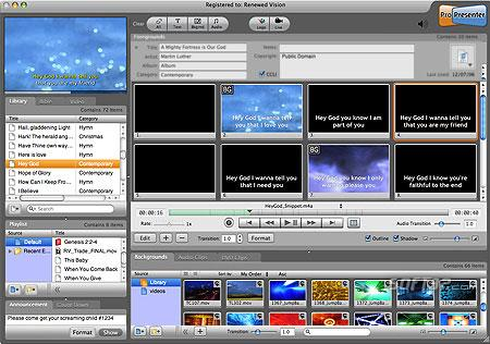 ProPresenter Screenshot