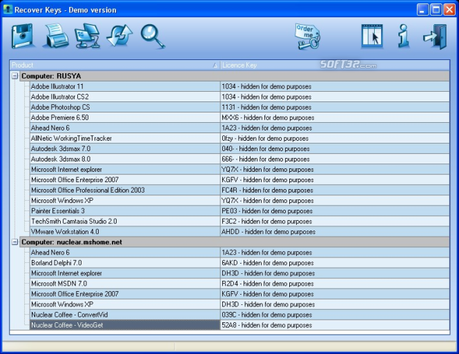 Recover Keys Basic Screenshot 2