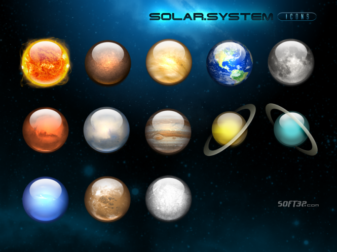 solar system icons Screenshot