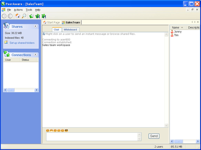PeerAware Screenshot