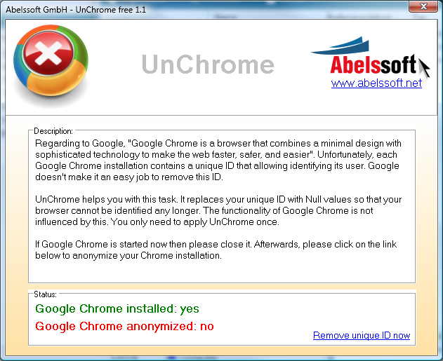 UnChrome Screenshot