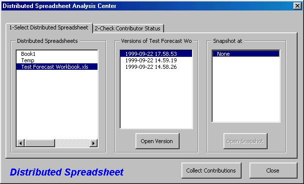 Distributed Spreadsheet Screenshot