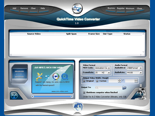 A-Z Free Video Converter Screenshot 1