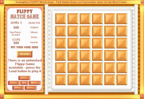Flippy Match Game Screenshot