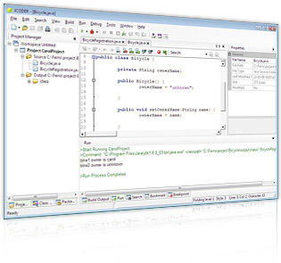 JCODER Lite (Free Java IDE editor for Windows) Screenshot