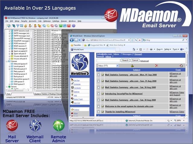 MDaemon FREE Mail Server for Windows Screenshot 1