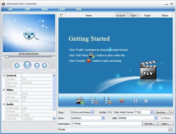 Joboshare FLV Converter Screenshot 3