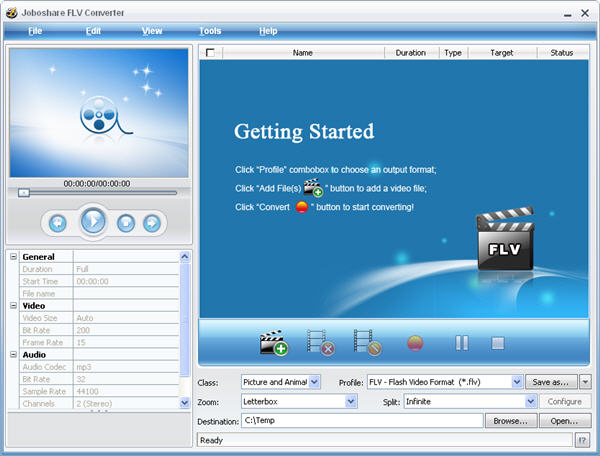 Joboshare FLV Converter Screenshot