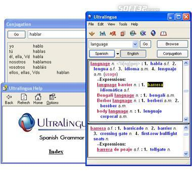 Ultralingua Spanish-English Dictionary (Win) Screenshot