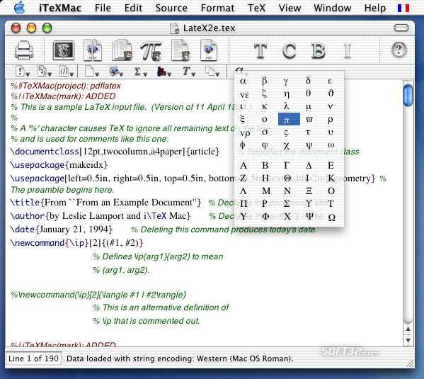 iTeXMac Screenshot