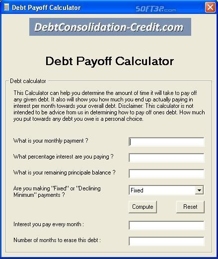 Debt Settlement Calculator Screenshot 3
