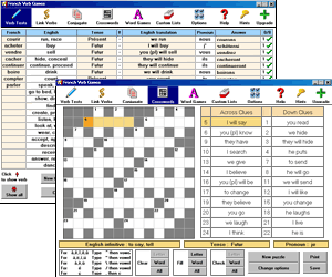 French Verb Games Screenshot 1