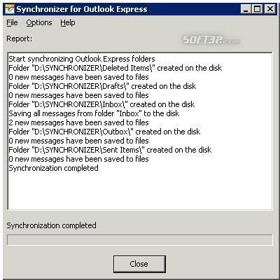 Synchronizer for Outlook Express Screenshot 2