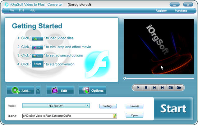 iOrgSoft Video to Flash Converter Screenshot 1