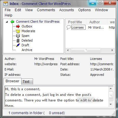 Comment Client for WordPress Pro Screenshot 2
